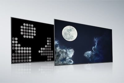 Pantalla y panel posterior de Full Array LED convencional