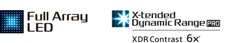 Logotipos de Full Array LED y X-tended Dynamic Range